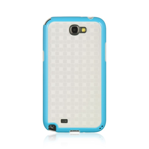 Insten Hard Case For Samsung Galaxy Note II, White/Blue