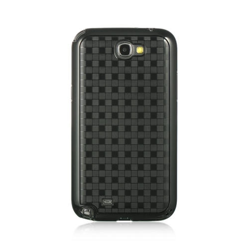 Insten Hard Rubber Coated Cover Case For Samsung Galaxy Note II, Black