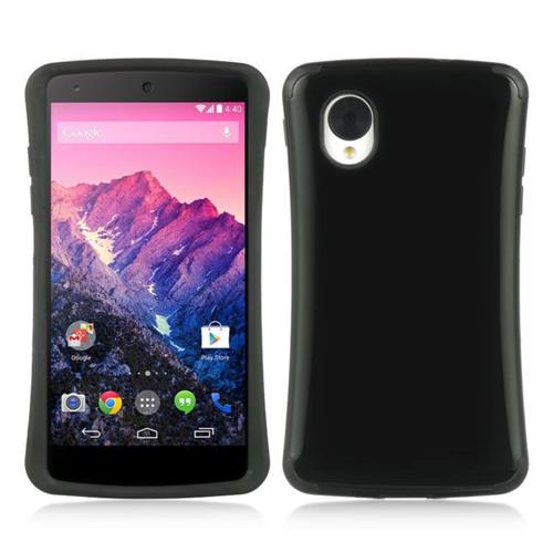 Insten Rubber Cover Case For LG Google Nexus 5 D820, Black