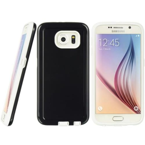Insten Hard Dual Layer TPU Cover Case For Samsung Galaxy S6, Black/White