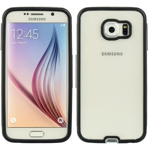 Insten Hard Hybrid Plastic TPU Cover Case For Samsung Galaxy S6, Clear/Silver