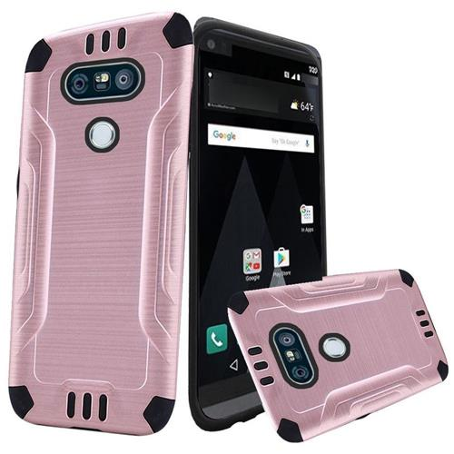 Insten Hard Dual Layer TPU Case For LG V20, Rose Gold/Black