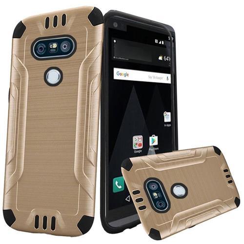 Insten Hard Hybrid TPU Cover Case For LG V20, Gold/Black