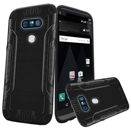 Insten Hard Dual Layer TPU Cover Case For LG V20, Black