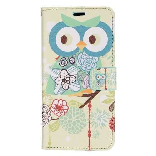 Insten Flowers Folio Leather Case w/stand/card holder/Photo Display For Samsung Galaxy S8+, Blue