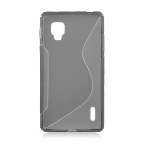 Insten S Shape Gel Transparent Cover Case For LG Optimus G LS970 Sprint, Smoke