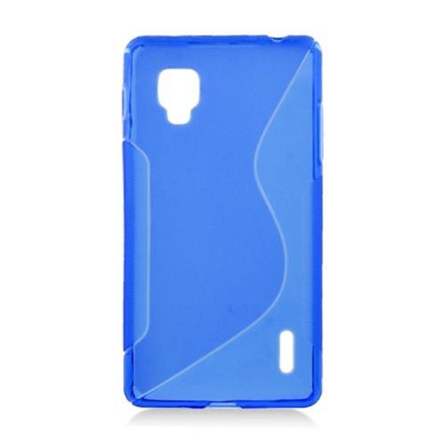 Insten S Shape Gel Transparent Cover Case For LG Optimus G LS970 Sprint, Blue
