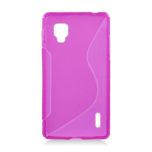 Insten S Shape Gel Clear Cover Case For LG Optimus G LS970 Sprint, Hot Pink