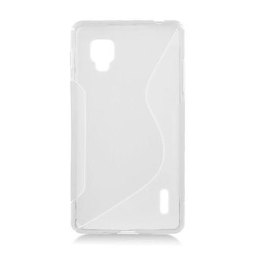 Insten S Shape Rubber Case For LG Optimus G LS970 Sprint, Clear