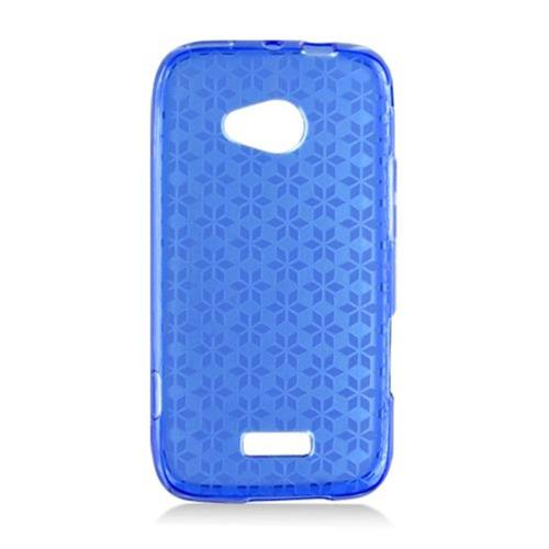 Insten Checker Gel Clear Cover Case For Samsung Galaxy Victory 4G LTE, Blue