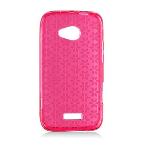 Insten Checker Rubber Transparent Cover Case For Samsung Galaxy Victory 4G LTE, Red