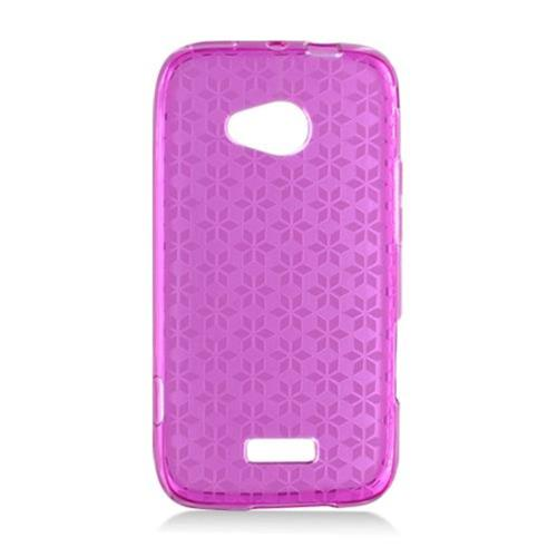 Insten Checker TPU Clear Case For Samsung Galaxy Victory 4G LTE, Hot Pink