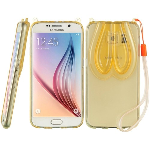 Insten Rubber 3D Case For Samsung Galaxy S6, Gold