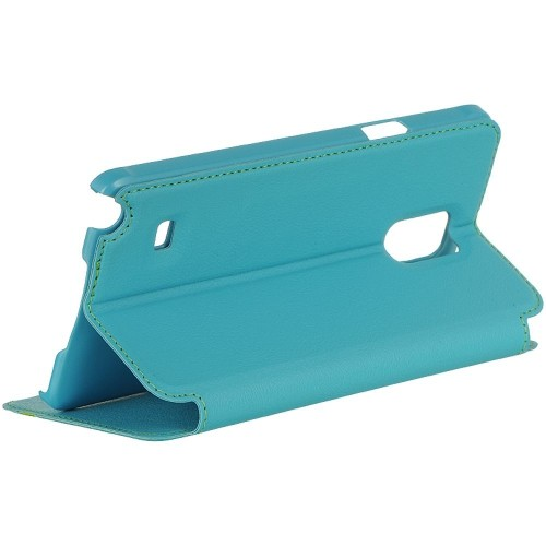 Insten Book-Style Leather Fabric Cover Case w/stand/card slot For Samsung Galaxy Note 4, Blue
