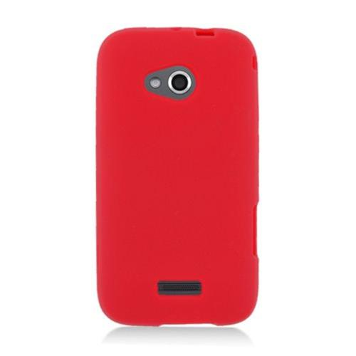 Insten Skin Rubber Cover Case For Samsung Galaxy Victory 4G LTE, Red