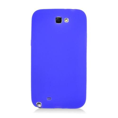Insten Gel Rubber Case For Samsung Galaxy Note II, Blue