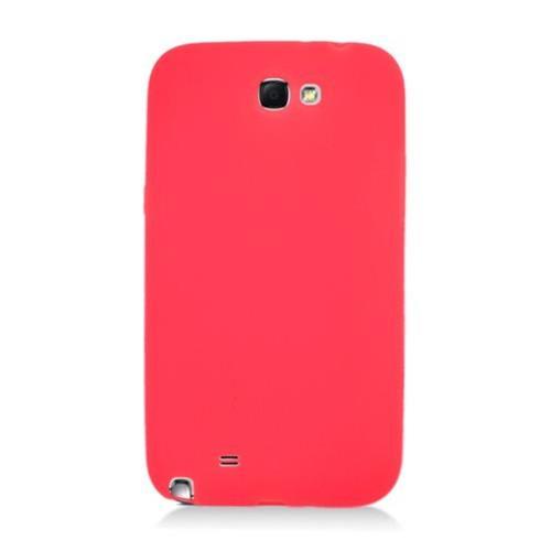 Insten Rubber Case For Samsung Galaxy Note II, Red