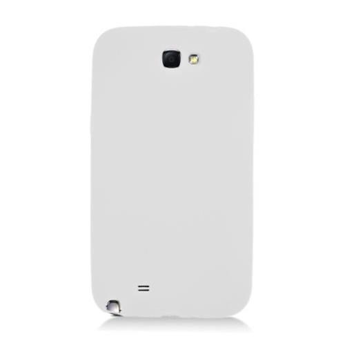 Insten Rubber Cover Case For Samsung Galaxy Note II, White