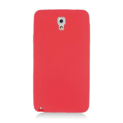 Insten Soft Rubber Cover Case For Samsung Galaxy Note 3, Red