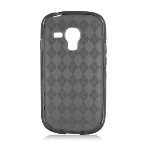 Insten Checker Gel Clear Case For Samsung Galaxy S3 Mini, Smoke