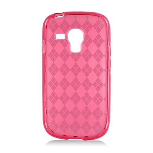 Insten Checker TPU Transparent Cover Case For Samsung Galaxy S3 Mini, Red
