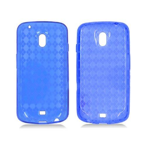 Insten Checker TPU Transparent Case For Samsung Galaxy Nexus Prime i515, Blue