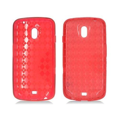 Insten Checker Gel Transparent Cover Case For Samsung Galaxy Nexus Prime i515, Red