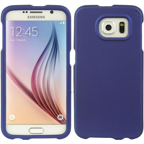 Insten Hard Rubberized Case For Samsung Galaxy S6, Blue