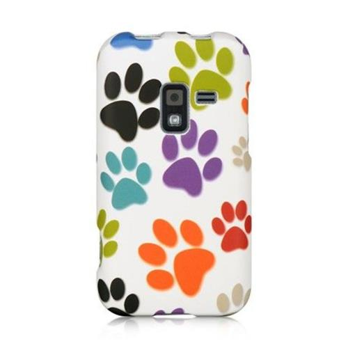 Insten Dog Paws Hard Case For Samsung Galaxy Attain 4G, White/Orange