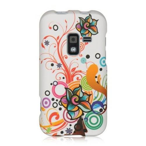 Insten Autumn Flower Hard Case For Samsung Galaxy Attain 4G, White/Orange