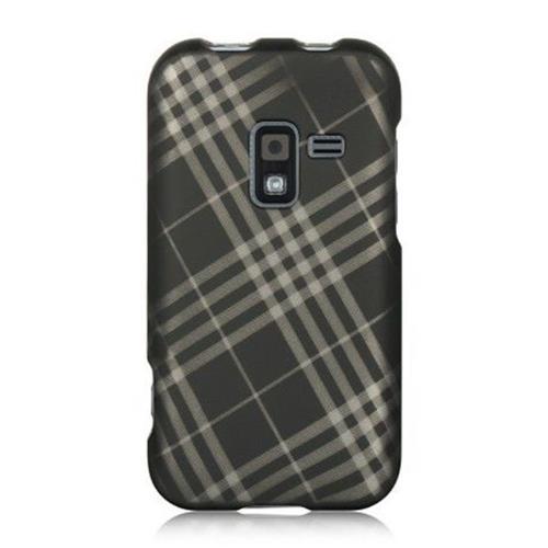 Insten Hard Rubber Cover Case For Samsung Galaxy Attain 4G, Black