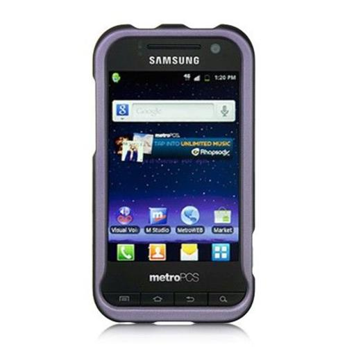 Insten Hard Rubber Coated Cover Case For Samsung Galaxy Attain 4G, Purple
