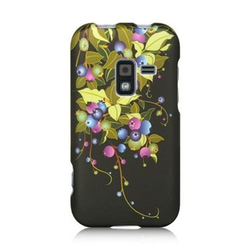 Insten Blueberry Hard Case For Samsung Galaxy Attain 4G, Black/Yellow