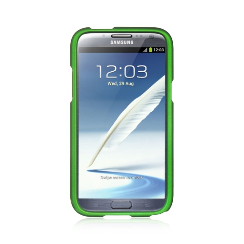 Insten Hard Rubber Case For Samsung Galaxy Note II, Green