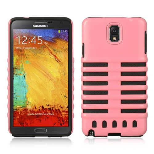 Insten Hard Dual Layer Plastic Silicone Cover Case For Samsung Galaxy Note 3, Pink/Black