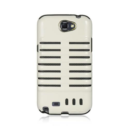 Insten Hard Dual Layer TPU Case For Samsung Galaxy Note II, White/Black