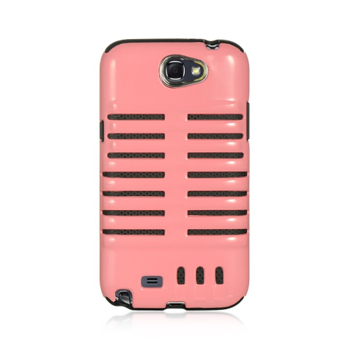 Insten Hard Hybrid TPU Cover Case For Samsung Galaxy Note II, Pink/Black