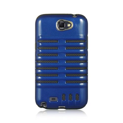 Insten Hard Hybrid TPU Case For Samsung Galaxy Note II, Blue/Black