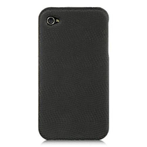 Insten Hard Rubber Case For Apple iPhone 4/4S, Black