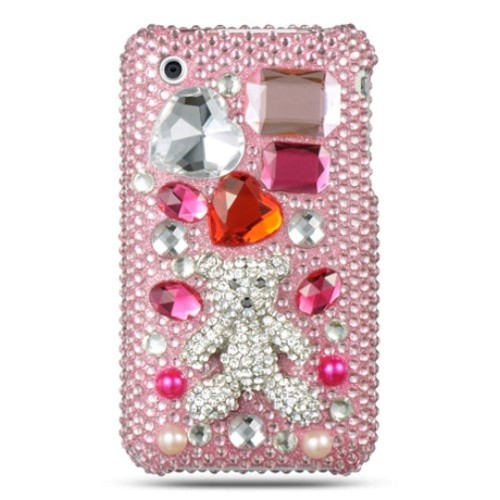 Insten Fitted Hard Shell Case for iPhone 3GS;iPhone 3G - White;Pink