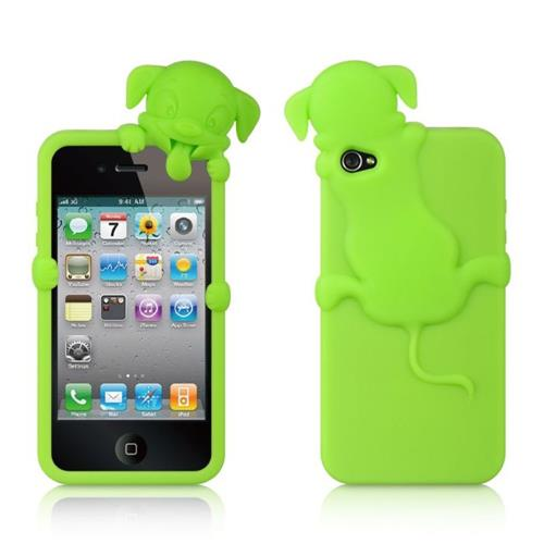 Insten Skin Rubber Cover Case For Apple iPhone 4/4S, Green