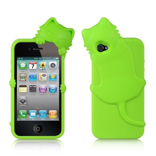 Insten Silicone Rubber Case For Apple iPhone 4/4S, Green