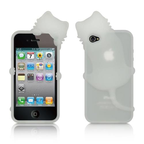 Insten Fitted Soft Shell Case for iPhone 4S;iPhone 4 - White