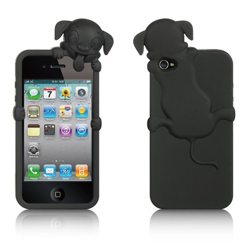 Insten Skin Rubber Case For Apple iPhone 4/4S, Black