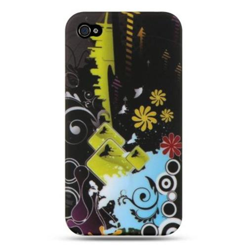Insten Fitted Hard Shell Case for iPhone 4S;iPhone 4 - Yellow;Black