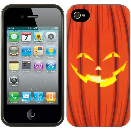 Insten Halloween TPU Cover Case For Apple iPhone 4/4S, Orange