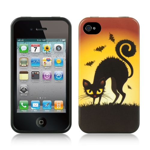 Insten Halloween TPU Cover Case For Apple iPhone 4/4S, Yellow