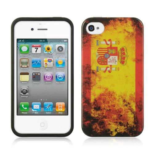 Insten Spain Rubber Cover Case For Apple iPhone 4/4S, Orange
