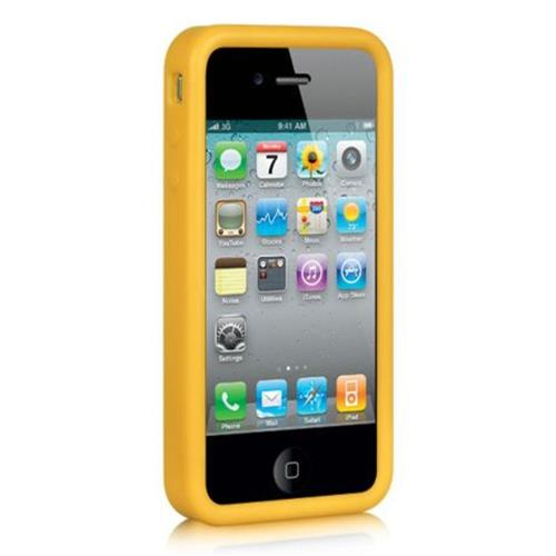 Insten Skin Rubber Cover Case For Apple iPhone 4/4S, Yellow