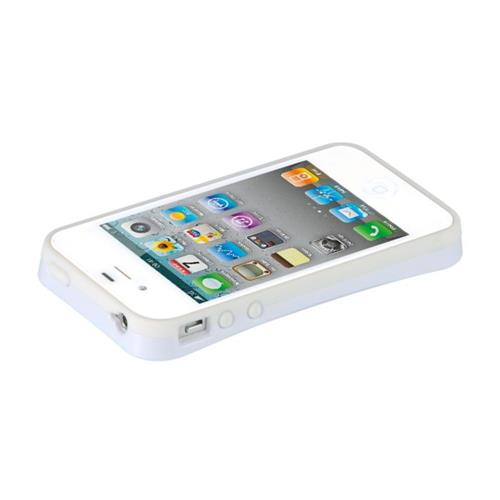 Insten Hard Hybrid TPU Case For Apple iPhone 4/4S, White